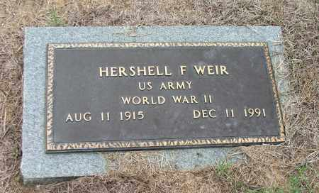 WEIR (VETERAN WWII), HERSHELL FRANK - Lawrence County, Arkansas | HERSHELL FRANK WEIR (VETERAN WWII) - Arkansas Gravestone Photos