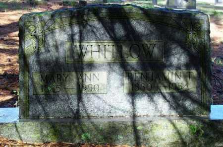 WHITLOW, MARY ANN - Lawrence County, Arkansas | MARY ANN WHITLOW - Arkansas Gravestone Photos