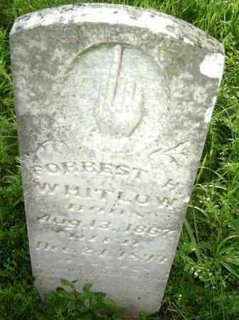 WHITLOW, FOREST H. - Lawrence County, Arkansas   FOREST H. WHITLOW - Arkansas Gravestone Photos