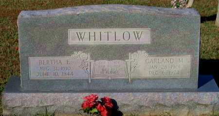WHITLOW, GARLAND MACK - Lawrence County, Arkansas | GARLAND MACK WHITLOW - Arkansas Gravestone Photos