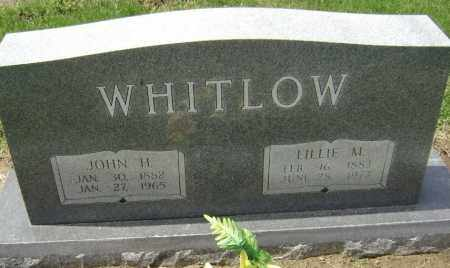 WHITLOW, JOHN H. - Lawrence County, Arkansas | JOHN H. WHITLOW - Arkansas Gravestone Photos