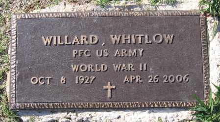 WHITLOW (VETERAN WWII), WILLARD - Lawrence County, Arkansas | WILLARD WHITLOW (VETERAN WWII) - Arkansas Gravestone Photos
