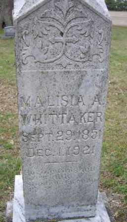 WHITTAKER, MALISIA A. - Lawrence County, Arkansas | MALISIA A. WHITTAKER - Arkansas Gravestone Photos