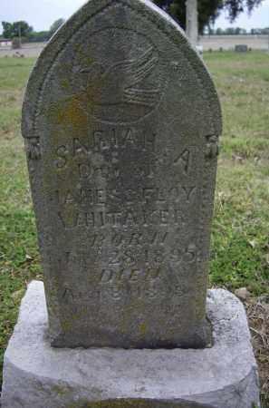 WHITTAKER, SARIAH A. - Lawrence County, Arkansas   SARIAH A. WHITTAKER - Arkansas Gravestone Photos
