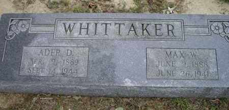 "WHITTAKER, WILLIAM MAXIE ""MAX W."" - Lawrence County, Arkansas 