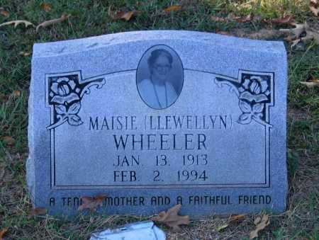 LLEWELLYN WHEELER, MAISIE - Lawrence County, Arkansas | MAISIE LLEWELLYN WHEELER - Arkansas Gravestone Photos