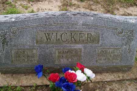 WICKER, DOLLIE J. - Lawrence County, Arkansas | DOLLIE J. WICKER - Arkansas Gravestone Photos