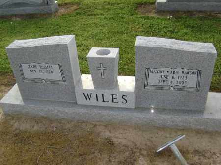 DAWSON WILES, MAXINE MARIE - Lawrence County, Arkansas | MAXINE MARIE DAWSON WILES - Arkansas Gravestone Photos