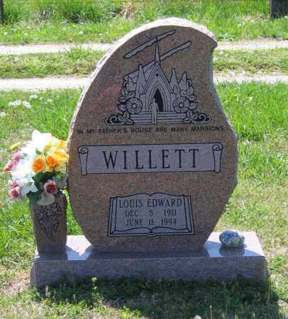 WILLETT, LOUIS EDWARD - Lawrence County, Arkansas | LOUIS EDWARD WILLETT - Arkansas Gravestone Photos