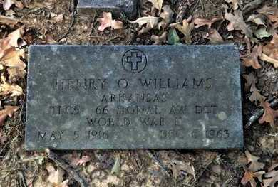 WILLIAMS (VETERAN WWII), HENRY O. - Lawrence County, Arkansas | HENRY O. WILLIAMS (VETERAN WWII) - Arkansas Gravestone Photos