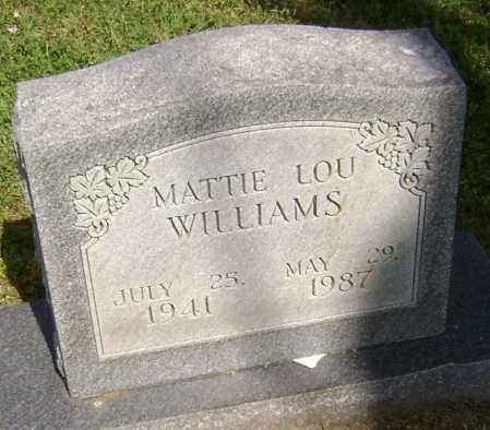 WILLIAMS, MATTIE LOU - Lawrence County, Arkansas | MATTIE LOU WILLIAMS - Arkansas Gravestone Photos