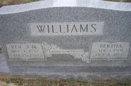 WILLIAMS, REV. J. M. - Lawrence County, Arkansas | REV. J. M. WILLIAMS - Arkansas Gravestone Photos