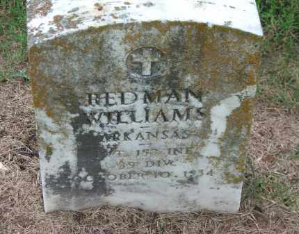 WILLIAMS (VETERAN WWI), ASA REDMAN - Lawrence County, Arkansas | ASA REDMAN WILLIAMS (VETERAN WWI) - Arkansas Gravestone Photos