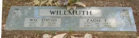 WILLMUTH, WILLIAM DAVID - Lawrence County, Arkansas | WILLIAM DAVID WILLMUTH - Arkansas Gravestone Photos
