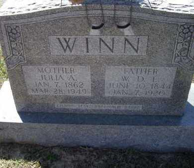 WINN, JULIA A. - Lawrence County, Arkansas | JULIA A. WINN - Arkansas Gravestone Photos