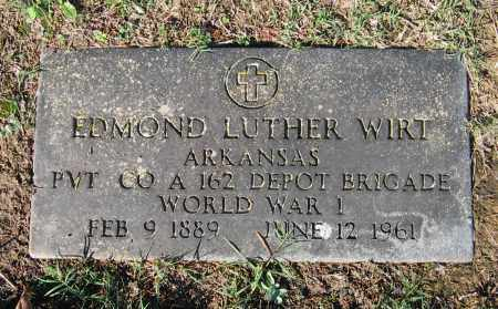 WIRT (VETERAN WWI), EDMOND LUTHER - Lawrence County, Arkansas | EDMOND LUTHER WIRT (VETERAN WWI) - Arkansas Gravestone Photos