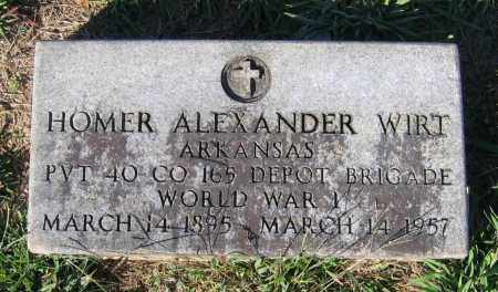 WIRT (VETERAN WWI), HOMER ALEXANDER - Lawrence County, Arkansas | HOMER ALEXANDER WIRT (VETERAN WWI) - Arkansas Gravestone Photos