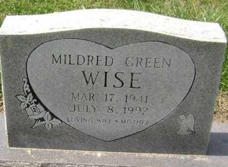 GREEN WISE, MILDRED - Lawrence County, Arkansas | MILDRED GREEN WISE - Arkansas Gravestone Photos