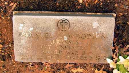 "WOODSON (VETERAN WWII), EMANUEL LAVERE ""MANUEL"" - Lawrence County, Arkansas | EMANUEL LAVERE ""MANUEL"" WOODSON (VETERAN WWII) - Arkansas Gravestone Photos"