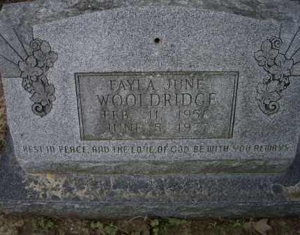 WOOLDRIDGE, FAYLA JUNE - Lawrence County, Arkansas   FAYLA JUNE WOOLDRIDGE - Arkansas Gravestone Photos