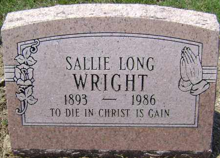 LONG WRIGHT, SALLIE - Lawrence County, Arkansas | SALLIE LONG WRIGHT - Arkansas Gravestone Photos