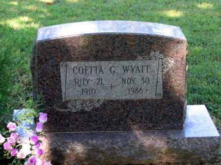 STRATTON WYATT, COETTA GWENDOLYN - Lawrence County, Arkansas | COETTA GWENDOLYN STRATTON WYATT - Arkansas Gravestone Photos