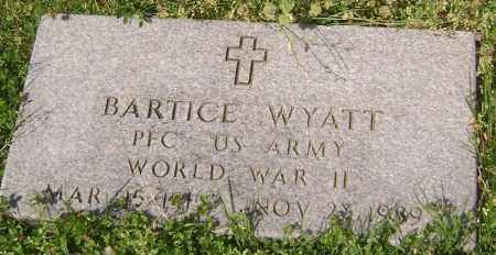 WYATT (VETERAN WWII), BARTICE - Lawrence County, Arkansas | BARTICE WYATT (VETERAN WWII) - Arkansas Gravestone Photos