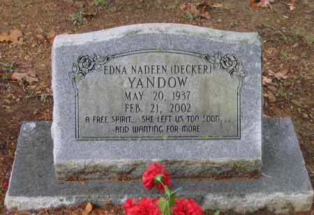 YANDOW, EDNA NADEEN - Lawrence County, Arkansas | EDNA NADEEN YANDOW - Arkansas Gravestone Photos