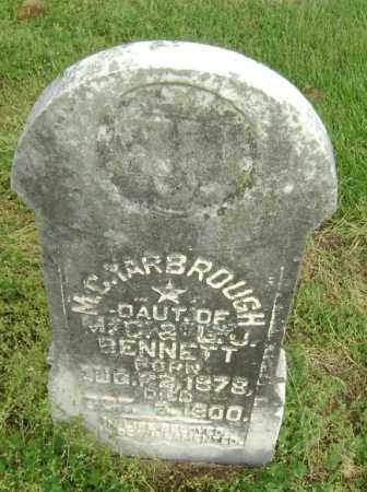 BENNETT YARBROUGH, MOSIE C. - Lawrence County, Arkansas | MOSIE C. BENNETT YARBROUGH - Arkansas Gravestone Photos