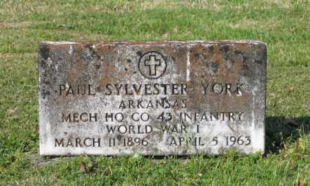 YORK (VETERAN WWI), PAUL SYLVESTER - Lawrence County, Arkansas | PAUL SYLVESTER YORK (VETERAN WWI) - Arkansas Gravestone Photos