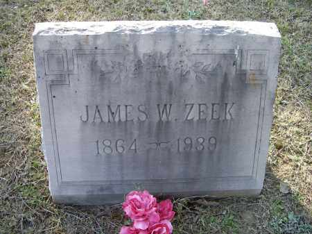 ZEEK, JAMES W. - Lawrence County, Arkansas | JAMES W. ZEEK - Arkansas Gravestone Photos