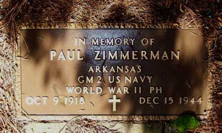 ZIMMERMAN (VETERAN WWII, MIA), PAUL - Lawrence County, Arkansas | PAUL ZIMMERMAN (VETERAN WWII, MIA) - Arkansas Gravestone Photos