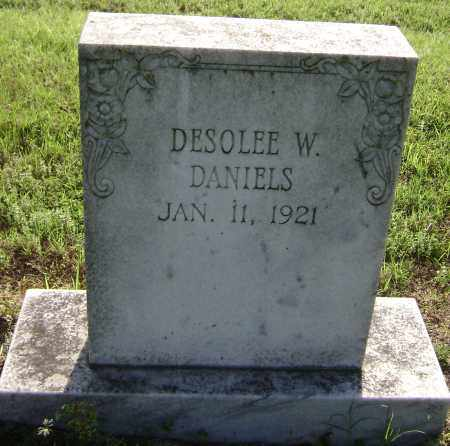 DANIELS, DESOLEE W. - Lawrence County, Arkansas | DESOLEE W. DANIELS - Arkansas Gravestone Photos