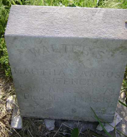 RUFFNER, WALTER S. - Lawrence County, Arkansas | WALTER S. RUFFNER - Arkansas Gravestone Photos