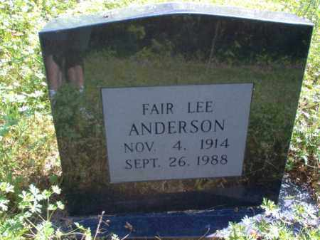 ANDERSON, FAIR LEE - Lee County, Arkansas | FAIR LEE ANDERSON - Arkansas Gravestone Photos