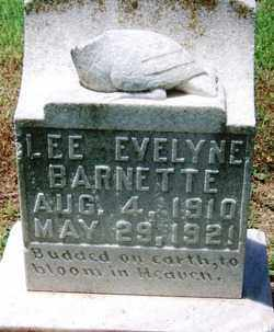 BARNETTE, LEE EVELYNE - Lee County, Arkansas | LEE EVELYNE BARNETTE - Arkansas Gravestone Photos