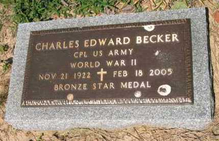 BECKER (VETERAN WWII), CHARLES EDWARD - Lee County, Arkansas | CHARLES EDWARD BECKER (VETERAN WWII) - Arkansas Gravestone Photos
