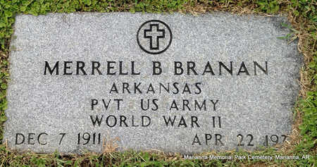 BRANAN (VETERAN WWII), MERRELL B - Lee County, Arkansas | MERRELL B BRANAN (VETERAN WWII) - Arkansas Gravestone Photos