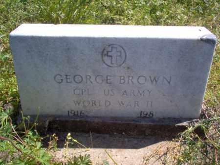 BROWN (VETERAN WWII), GEORGE - Lee County, Arkansas | GEORGE BROWN (VETERAN WWII) - Arkansas Gravestone Photos