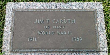 CARUTH (VETERAN WWII), JIM T - Lee County, Arkansas | JIM T CARUTH (VETERAN WWII) - Arkansas Gravestone Photos