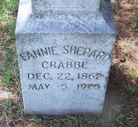 SHEPARD CRABBE, FANNIE - Lee County, Arkansas | FANNIE SHEPARD CRABBE - Arkansas Gravestone Photos