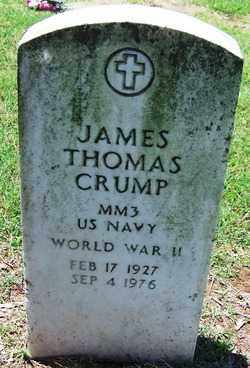 CRUMP (VETERAN WWII), JAMES THOMAS - Lee County, Arkansas | JAMES THOMAS CRUMP (VETERAN WWII) - Arkansas Gravestone Photos