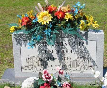 CUPP, ANTHONY ALLAN - Lee County, Arkansas | ANTHONY ALLAN CUPP - Arkansas Gravestone Photos