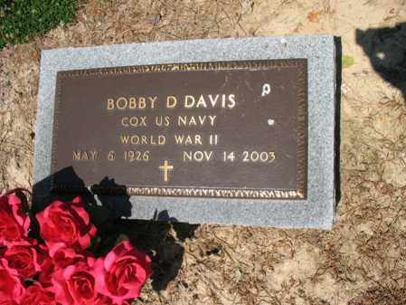 DAVIS (VETERAN WWII), BOBBY D - Lee County, Arkansas | BOBBY D DAVIS (VETERAN WWII) - Arkansas Gravestone Photos