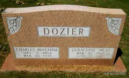DOZIER, CHARLES BINGHAM - Lee County, Arkansas | CHARLES BINGHAM DOZIER - Arkansas Gravestone Photos