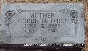 FORD, CORDELIA - Lee County, Arkansas | CORDELIA FORD - Arkansas Gravestone Photos