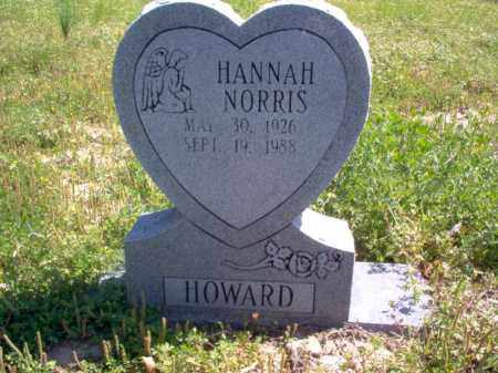 NORRIS HOWARD, HANNAH - Lee County, Arkansas | HANNAH NORRIS HOWARD - Arkansas Gravestone Photos