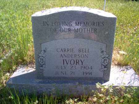 ANDERSON IVORY, CARRIE BELL - Lee County, Arkansas | CARRIE BELL ANDERSON IVORY - Arkansas Gravestone Photos