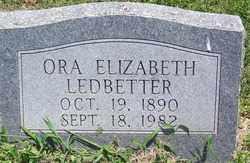 LEDBETTER, ORA ELIZABETH - Lee County, Arkansas | ORA ELIZABETH LEDBETTER - Arkansas Gravestone Photos