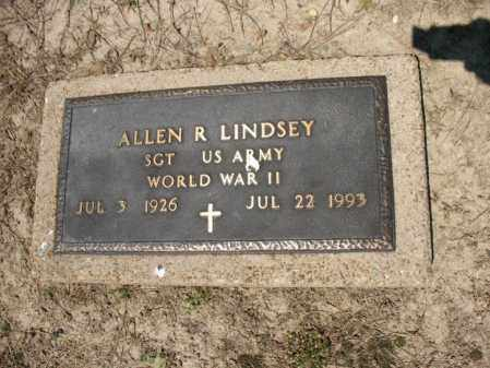 LINDSEY (VETERAN WWII), ALLEN R - Lee County, Arkansas | ALLEN R LINDSEY (VETERAN WWII) - Arkansas Gravestone Photos